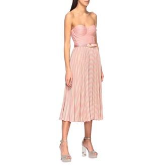 Elisabetta Franchi Celyn B. Elisabetta Franchi Dress Elisabetta Franchi Bodice Dress With Two-tone Lurex Effect Skirt