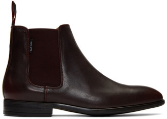 Paul Smith Burdundy Gerald Chelsea Boots