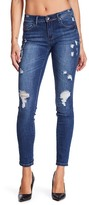 Tractr Destructed Basic Low Rise Skinny Jeans