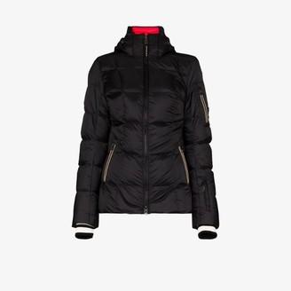 Bogner Womens Black Hooded Padded Down Jacket