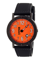 Breed Black & Orange Richard One-Hand Watch