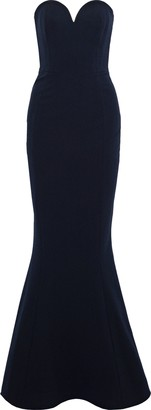 Rebecca Vallance Dahlia Strapless Fluted Crepe Gown