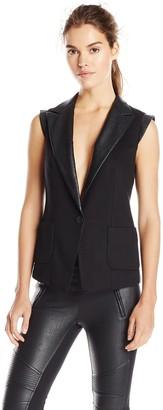 James Jeans Women's Tuxedo Vest
