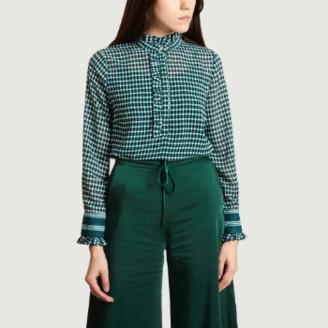 Suncoo Emerald Polyester Loline Blouse - 0 | polyester | emerald green - Emerald green