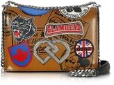 DSQUARED2 DD Medium Natural Leather Shoulder Bag w/Patches