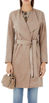 Marc Cain Faux Suede Coat, Rose Taupe
