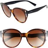 Valentino 55mm Cat Eye Sunglasses