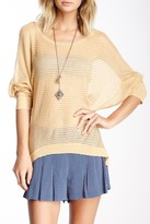 DOLCE CABO Sheer Stripe Sweater