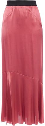 Ann Demeulemeester Fluted Stretch-silk Satin Maxi Skirt