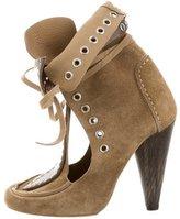 Isabel Marant Mossa Grommet-Embellished Ankle Boots