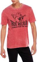 True Religion Burnout Short Sleeve Crew Neck Tee