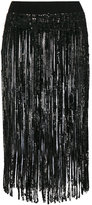 Twin-Set sequin fringed belt - women - Polyester/Viscose - One Size