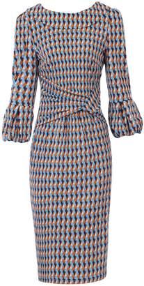Dorothy Perkins Womens *Jolie Moi Multi Colour Geometric Print Puff Sleeve Dress
