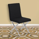Hawkins Contemporary Upholstered Dining Chair Orren Ellis Upholstery Color: Black