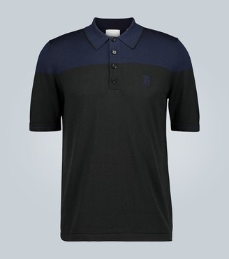 Burberry Silk and cashmere-blend polo shirt