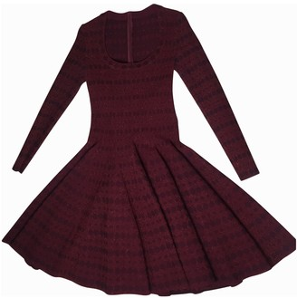 Alaia Burgundy Wool Dress for Women