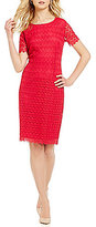 Preston & York Molly Short Sleeve Lace Sheath Dress