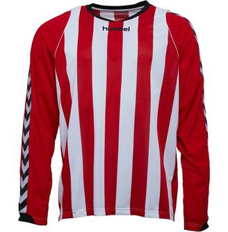 Hummel Mens Bee Authentic Striped Long Sleeve Match Jersey True Red/White
