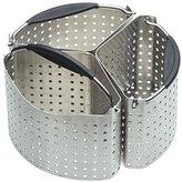 Kitchen Craft MasterClass Stainless Steel Saucepan Divider Baskets, 20 cm - Metallic, Set of 3