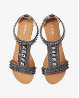 Express jeweled t-strap sandal