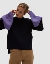 Cashmere-Blend Color Block Pullover