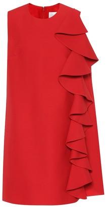 Valentino Wool and silk-crepe minidress