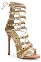Giuseppe Zanotti Coline 110 Studded Silk Lace-Up Sandals