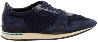 Burberry Navy Suede Trainers