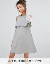 Asos Cold Shoulder Ruffle Sweat Dress