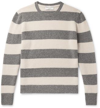 Officine Generale Striped Virgin Wool-Blend Sweater