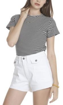 Vigoss Jeans White Button Jean Shorts
