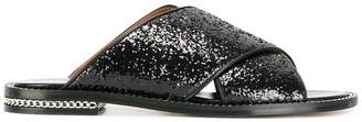 Givenchy sequin chain flat sandal