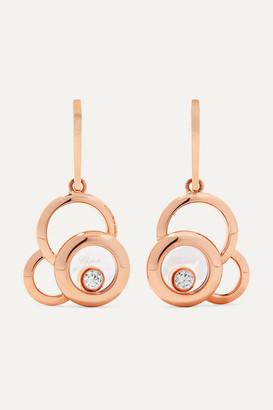 Chopard Happy Dreams 18-karat Rose Gold Diamond Earrings - one size