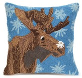 "Liora Manné Frontporch Moose & Snowflake Pillow Blue - (18""x18"") Square"