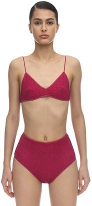 Oseree High Waisted Lurex & Lycra Bikini