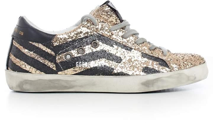 Golden Goose Superstar Glittered Panel Sneakers