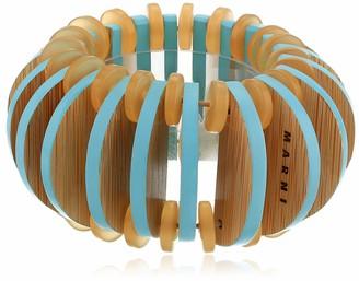 Marni Women's Mineral Ice Wooden Stretch Bracelet