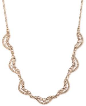 """Givenchy Gold-Tone Crystal Twist Collar Necklace, 16"""" + 3"""" extender"""