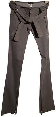 Versace Grey Cotton Trousers