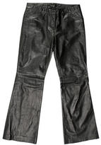 Theory Leather Wide-Leg Pants