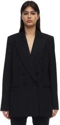 Stella McCartney Double Breast Wool Tuxedo Jacket