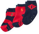 Ralph Lauren Argyle Rugby Sock 3-Pack