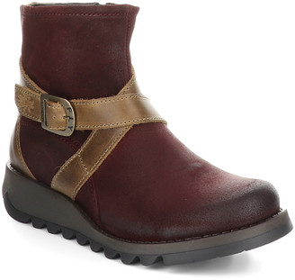 Fly London Women's Casual boots 028 - Red & Camel Sake Ankle Boot - Women