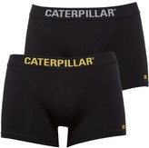 Caterpillar Mens Two Pack Boxers Black