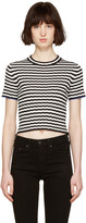 Proenza Schouler Black and White Cropped T-shirt