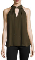Haute Hippie The New Morrison Laced Silk Tank