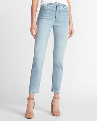 Express Super High Waisted Original Seamed Mom Jeans
