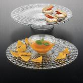 Nachtmann Bossa Nova 12.6 in. Crystal Decorative Cake Plate/Chip and Dip