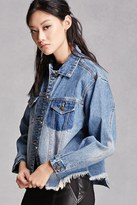 Forever 21 FOREVER 21+ Raw-Hem Denim Jacket