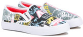 Diesel printed slip-on trainers - kids - Cotton/Polyester/Foam Rubber - 32